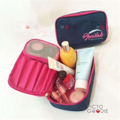 Tas Tepak Plastik Pensil Kosmetik tas pouch kosmetik premium sablon logo custom pictogoodie