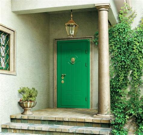 Green Exterior Door Make A Dramatic Impression 15 Painted Front Doors