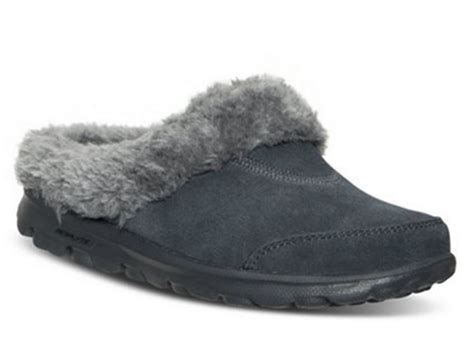 walk slippers skechers go walk cozy womens slipper clogs shoes 13660