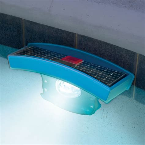 The Solar Pool Light Hammacher Schlemmer Solar Powered Pool Lights