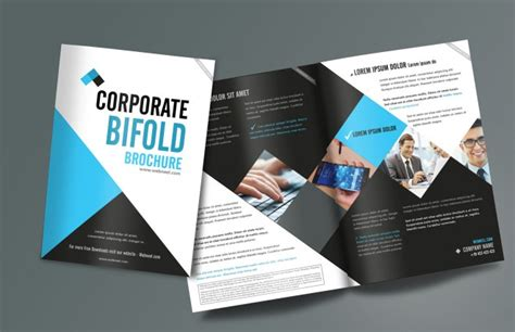 templates for designing brochures 15 free corporate bifold and trifold brochure templates