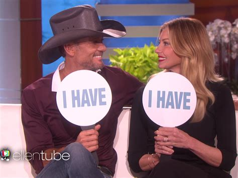 tim mcgraw ellen watch tim mcgraw and faith hill get personal while playing