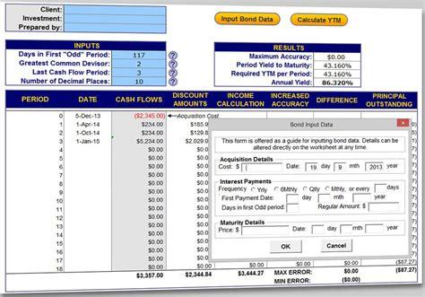 calculator yield bond yield calculator 3 0 download