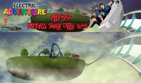 alesso jersey electric adventure at six flags great adventure in jackson