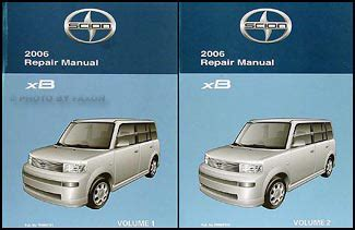 2006 scion xb repair shop manual original set
