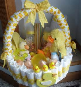 duckie diaper basket baby shower centerpiece by teresaphillips