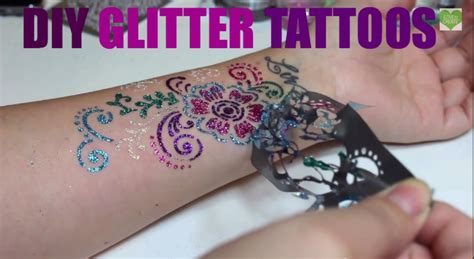 sparkle tattoo diy glitter tattoos