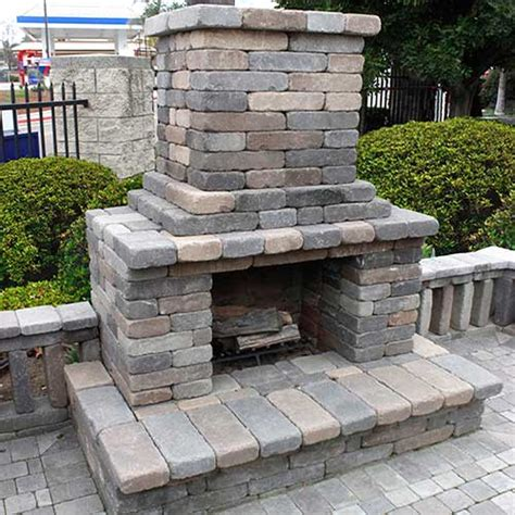 best outdoor fireplace kits fireplaces and accessories rcp block brick