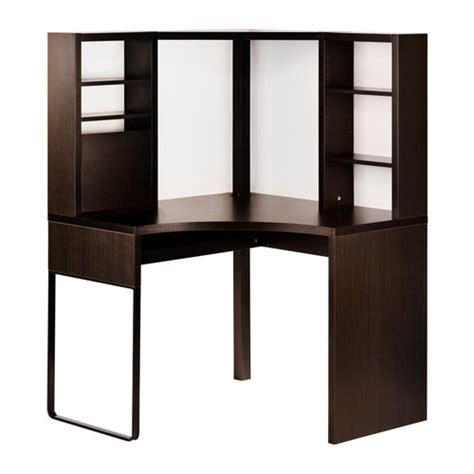 Corner Desk Idea Micke Corner Workstation Black Brown Ikea