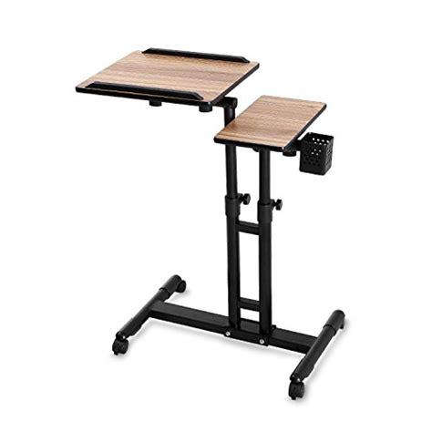 Adjustable Mobile Rolling Laptop Desk Burei Laptop Table Rolling Adjustable Computer Desk Portable Import It All