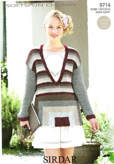 sirdar jumper knitting patterns free knitting pattern sirdar softspun chunky 9714 sweater