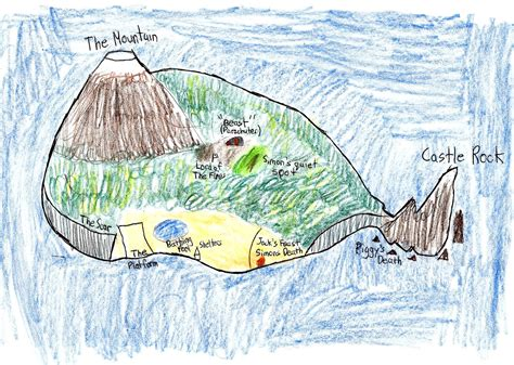 lord of the flies theme park map of the island in lord of the flies my blog
