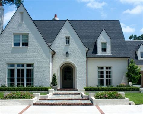 white brick house white brick house houzz
