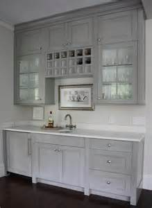 Built In Wine Racks For Kitchen Cabinets Grey Butlers Pantry With Built In Wine Rack Transitional Kitchen