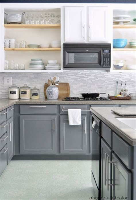 gray painted kitchen cabinets painted kitchen backsplash 12 stunning painted floors that will inspire you to up