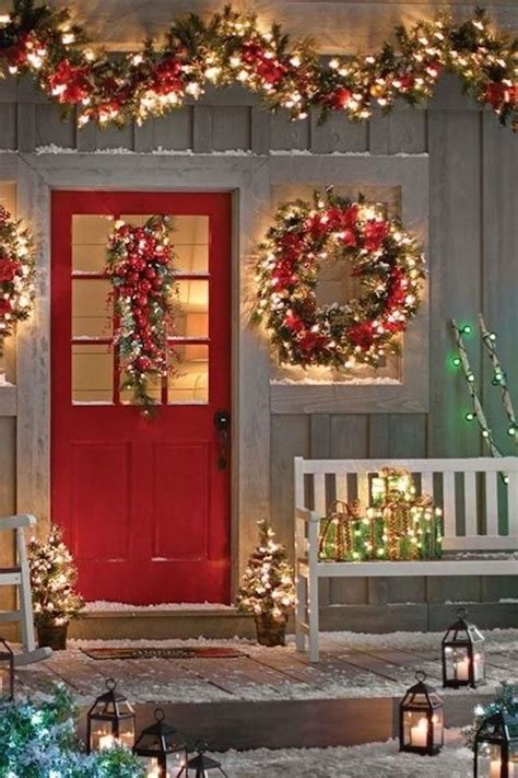Pictures Of Christmas Decorating Ideas For The Home by Decora 231 227 O Externa De Natal Para Casa 20 Ideias Simples E