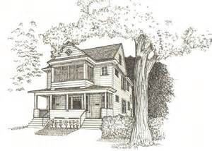 Baltimore Row Houses For Sale - hand drawn homes