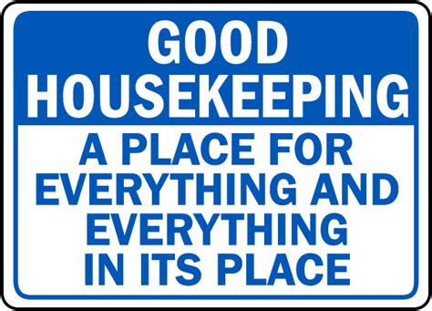 house keeping good housekeeping sign by safetysign com d5938