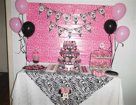 zebra minnie mouse baby shower quot co worker baby shower