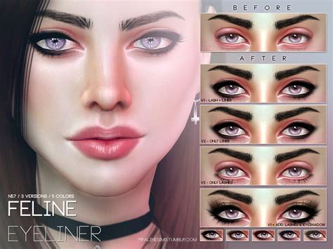 mod the sims acute eyeliner 10 styles sims 4 makeup cc life style by modernstork com