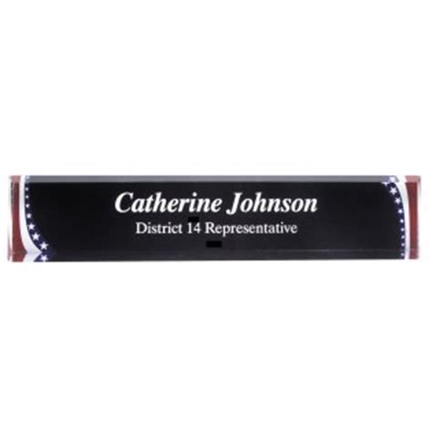 Acrylic Desk Name this adw10ss stripes acrylic desk name plate is