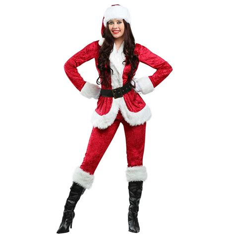 imagenes de santa claus mujer adult sweet santa costume jackets pants sets female