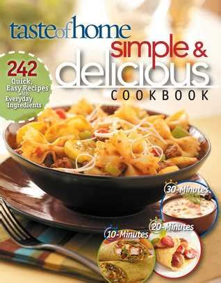 taste of home simple delicious cookbook by jean steiner