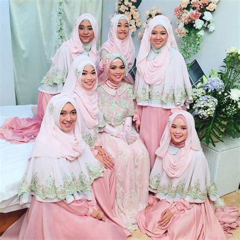 Gamis Syari Bridal anggunnya hqq 16 inspirasi busana bridesmaid syar i