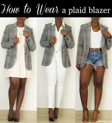 10 Ways To Wear A Blazer A Guide From Your Favorite by How To Wear A Boyfriend Plaid Blazer
