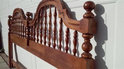 wood spindle bed king headboard wood spindles and knobs round by bloomnblossom