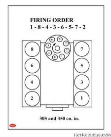Firing Order Small Block Chevrolet 89 Gta Trans Am Runs When Cold Third Generation
