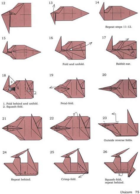 How To Make An Origami Leopard - jak zrobi艸jednoro蠑ca origami na unicorn zszywka pl
