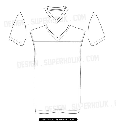 Football Jersey Vector Template Hellovector Football Jersey Template
