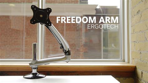 Ergotech Monitor Desk Arm by Best Monitor Arm Ergotech Freedom Monitor Arm Review