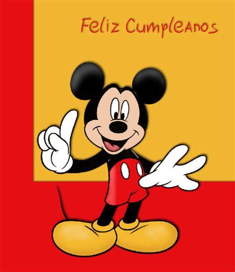 imagenes cumpleaños de mickey mouse mickey mouse disney tarjetas im 193 genes cumplea 241 os