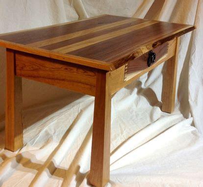 handmade unique live edge coffee table walnut cherry by