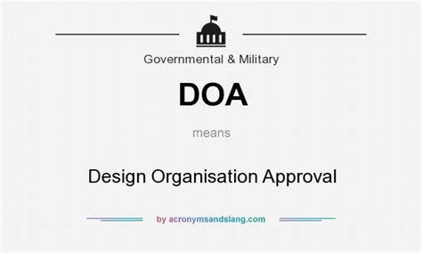 design organisation meaning doa design organisation approval in government