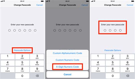 how to change your iphone or passcode back to 4 digits
