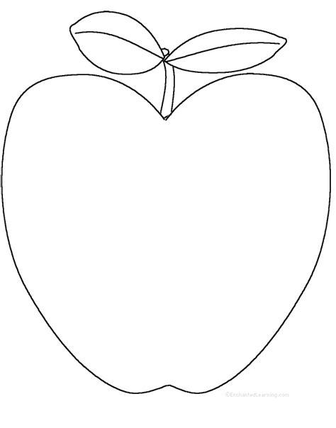 printable apple shapes apples at enchantedlearning com