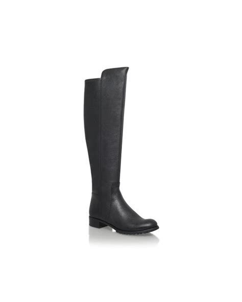 michael kors joanie boot low heel knee boots in black