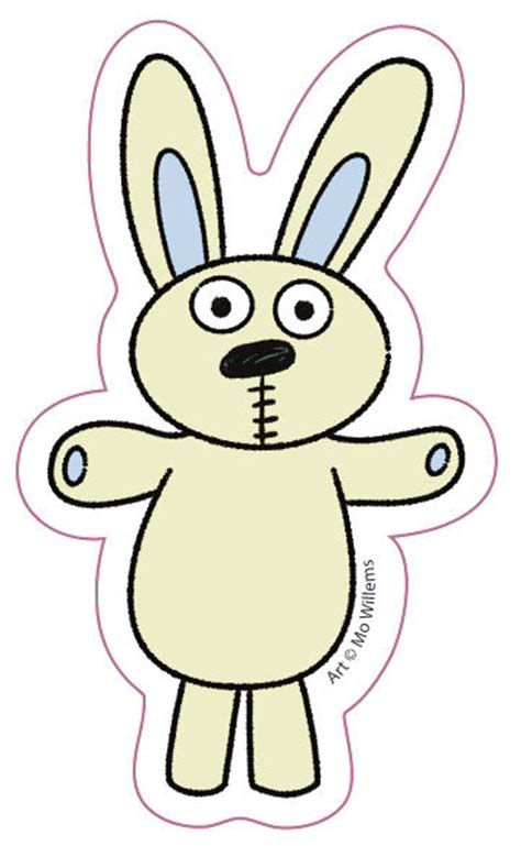Knuffle Bunny Sticker The Eric Carle Museum Of Picture Knuffle Bunny Coloring Page