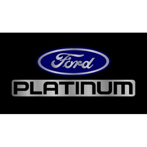 Ford Vanity Plates by Ford Platinum License Plate Ford Logo Products Autoplates