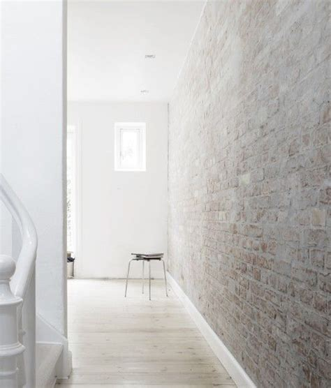 White Brick Interior by White Washed Brick Wall Cement