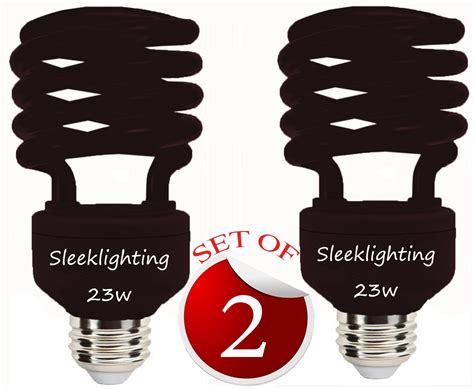 black spiral cfl light bulb sleeklighting 23 watt t2 black light spiral cfl light bulb