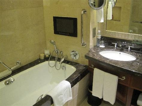 tv for bathrooms reviews hand written welcome note picture of shangri la hotel