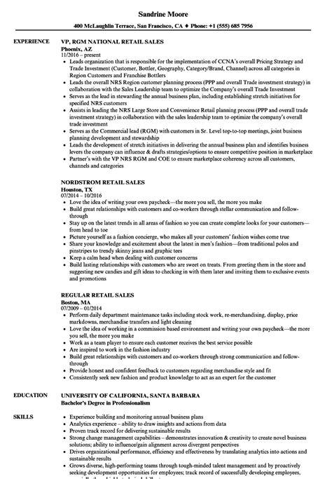 resume example retail salesperson resume sample unforgettable