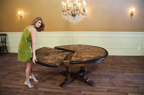 large round dining room table large round walnut dining room table with leaves seats 6