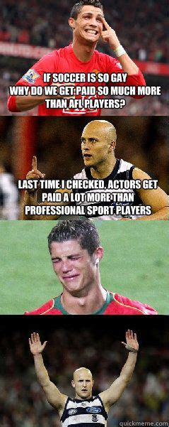 Soccer Gay Meme - 33 best images about afl memes on pinterest football