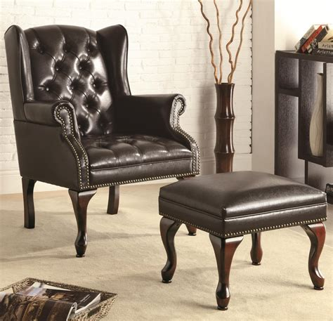 leather accent chairs with ottoman black leather accent chair with ottoman office pro s