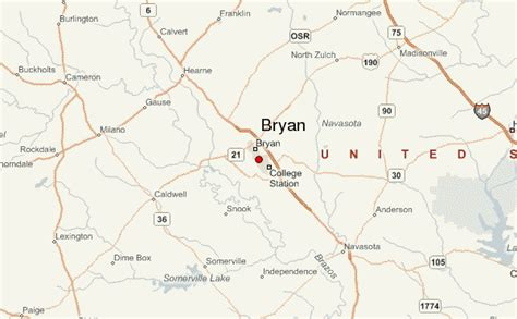 map bryan texas bryan location guide
